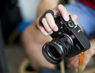 The Leica M240 finger loop