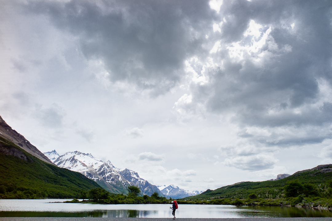 In outdoor sports photography, sometimes you need a little less mm's to show the grandeur of the scenery.