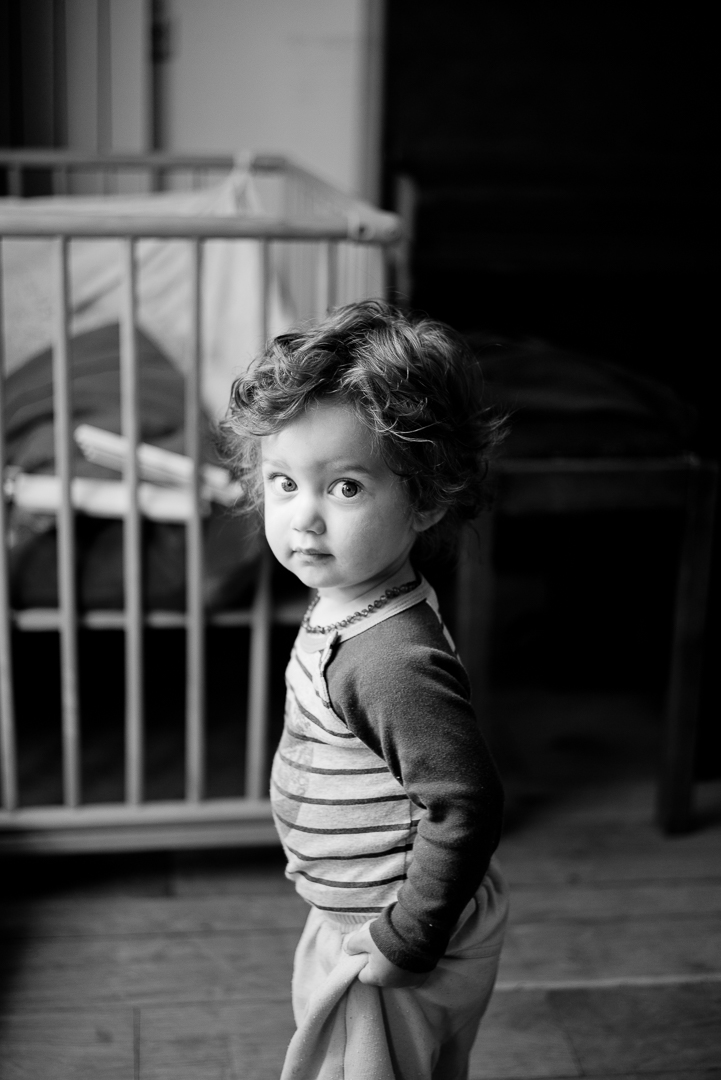 In these first moments, you can capture the mix of curiosity and shyness.