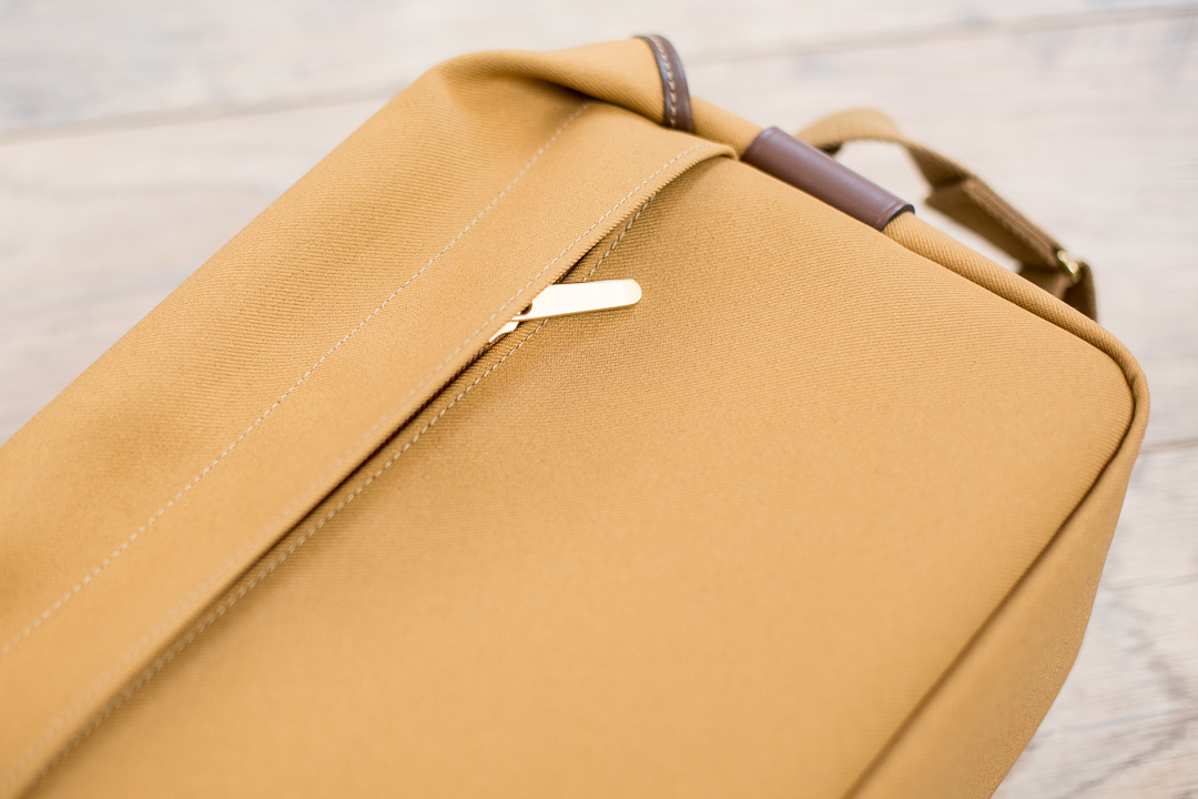 The zippered back pocket: fits an iPad or other flat things.