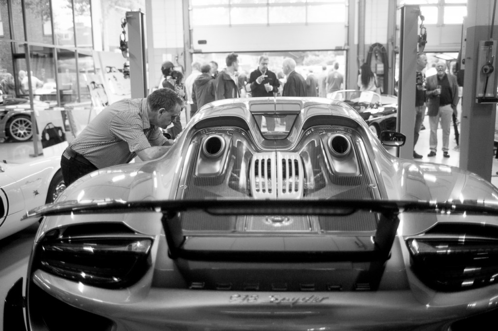 Here shooting it's German brother: the Porsche 918 Spyder. It's not mine by the way.