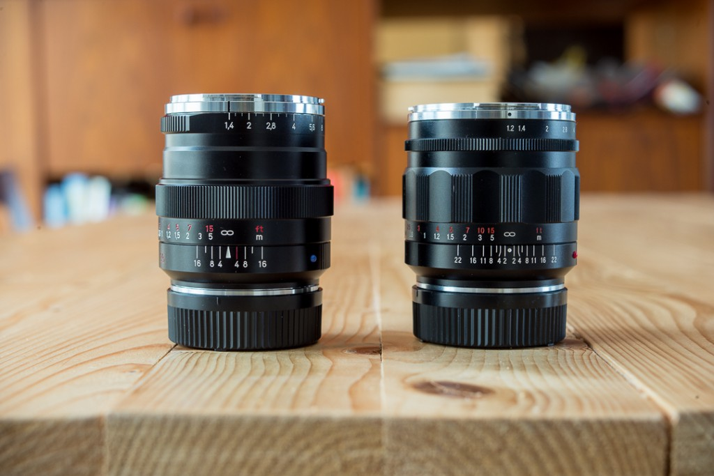 Almost as big as the CV35/1.2, but lighter.