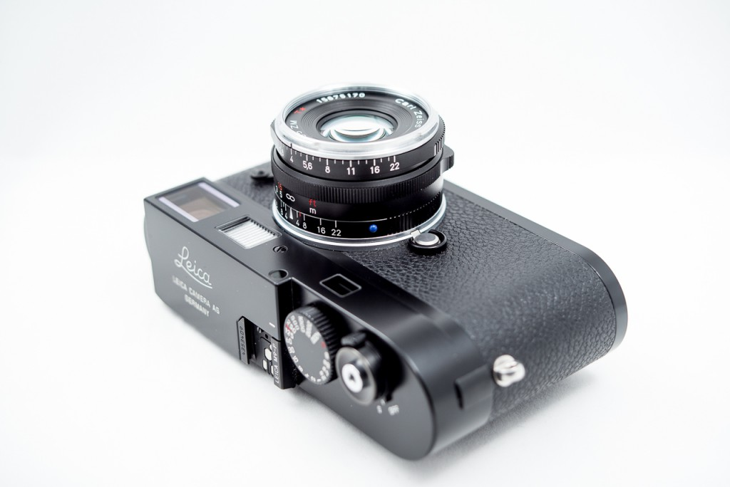 The Zeiss 35/2.8 on a Leica M9P. Gorgeous, small and lightweight.