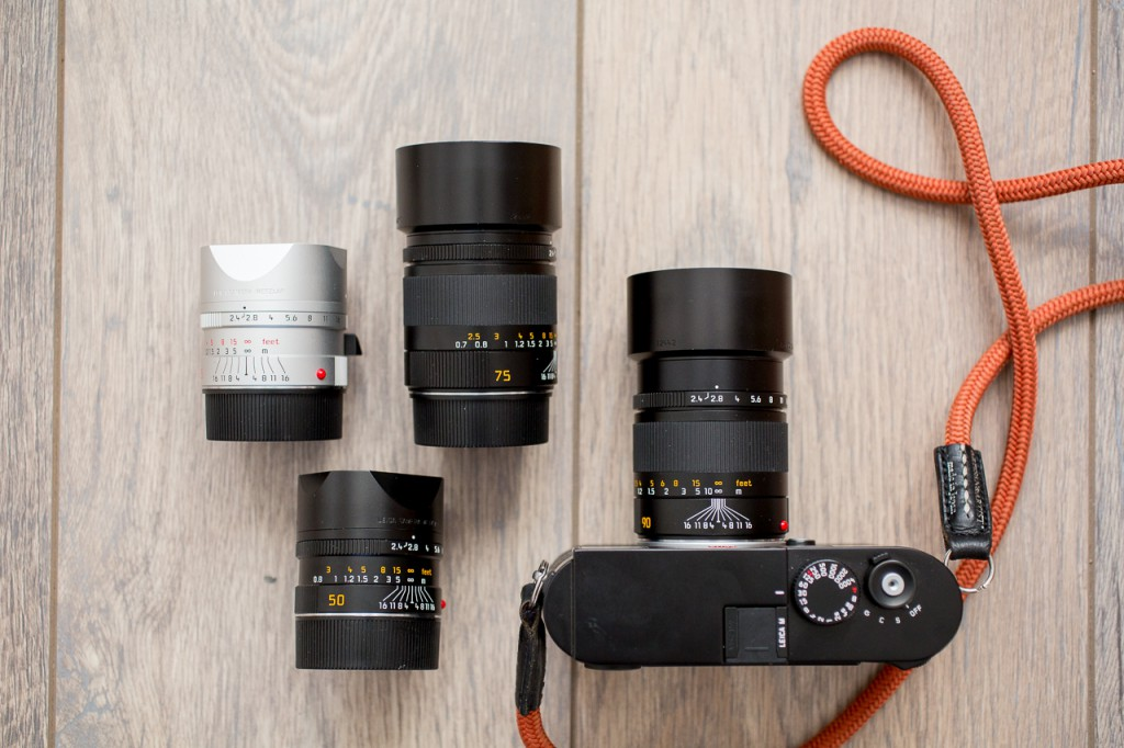 If you're used to DSLR weight and volume, the Leica Summarit system will blow you away...