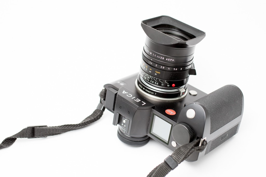 Shown here on the SL. The lens works even better on the M, regardless which M.