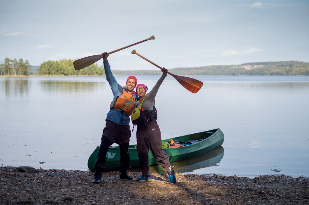 And here on our five months canoeing and hiking trip through Scandinavia.