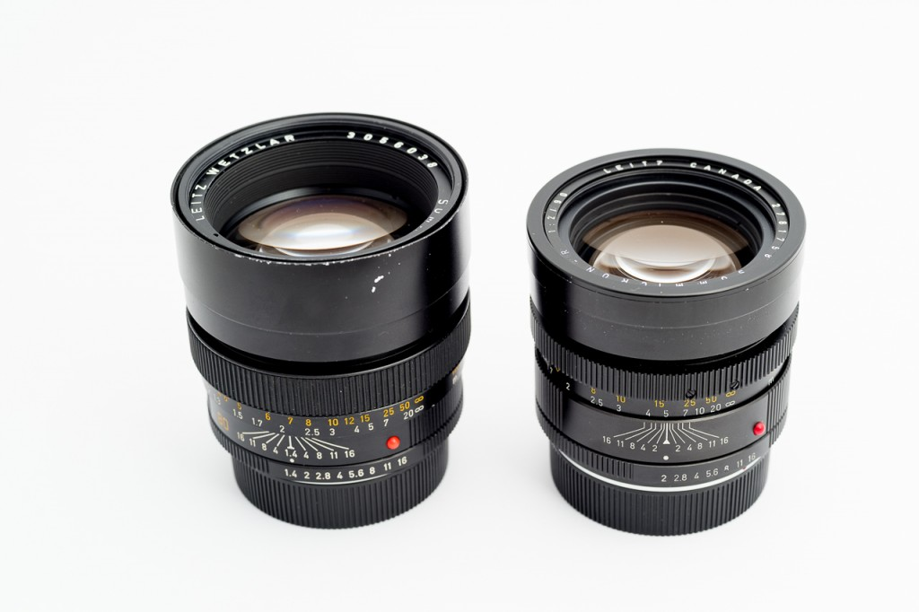 Here's the 80/1.4 compared to the 90/2. The 80 is slightly bigger and heavier.