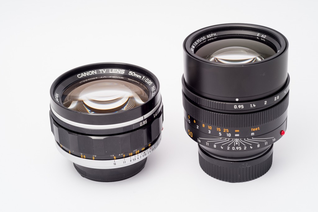 Smaller than the Noctilux and not the same tank-like build, but still quite solid.