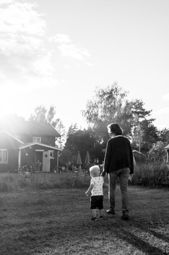 Talking a walk with grandma.