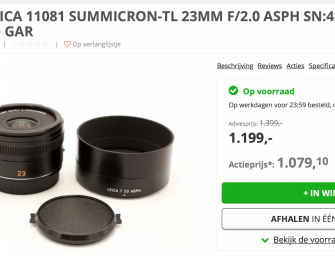 Good deal on occasion Leica 23/2.0 Summicron